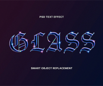 Free Attractive Perfect Glass Text Effect