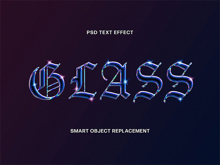 Attractive Perfect Glass Text Effect