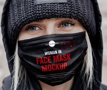 Elegant Creative Face Mask PSD Mockup Free Download