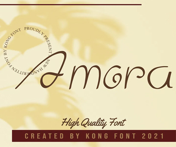 Free Amora Creative High Quality Font (2021)