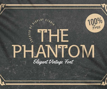 Free Perfect Vintage Phantom Font For Designers