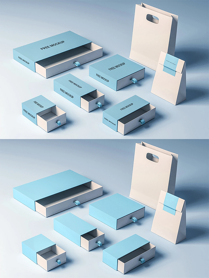 Attractive Best Blue Packing Boxes
