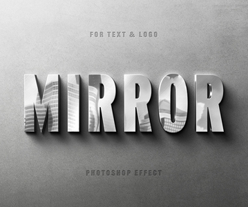 Free Awesome Metallic Photoshop Text Effect (Logo Mockup)