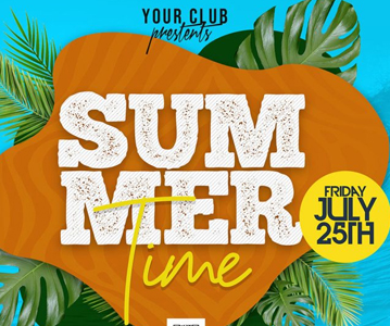 Free Awesome Summer Music Party Flyer PSD Template (2021)
