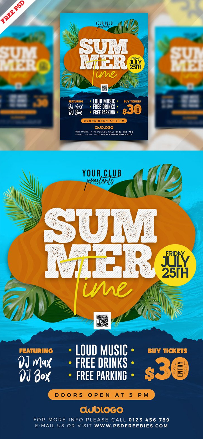 Awesome Summer Music Party Flyer