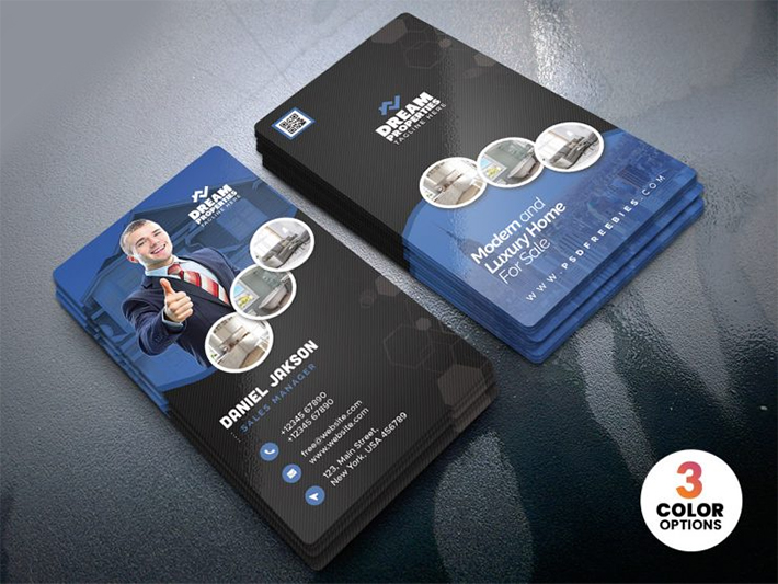 Elegant Attractive Real Estate Business Card Template