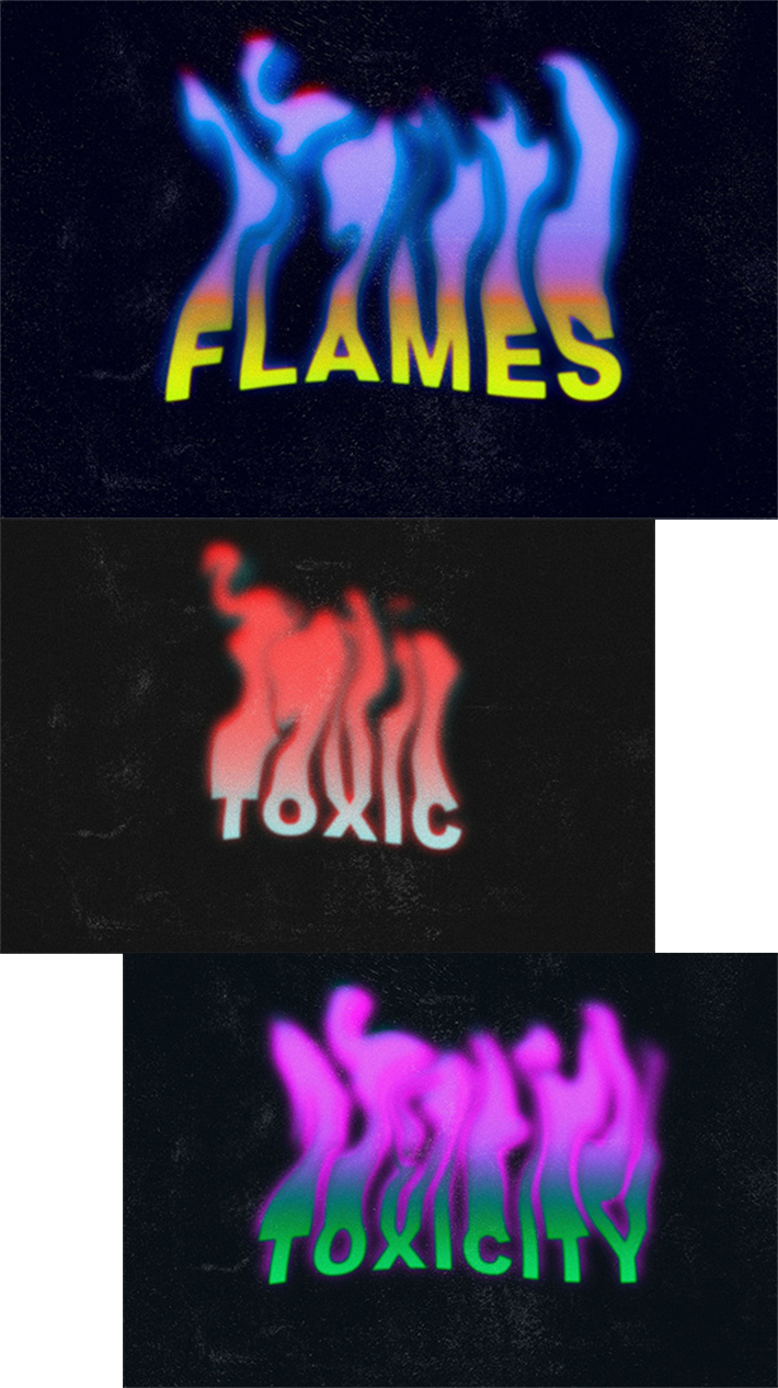Attractive Flames Text Effect