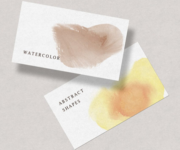 12 Free Awesome Unique Watercolor Shapes For Designers
