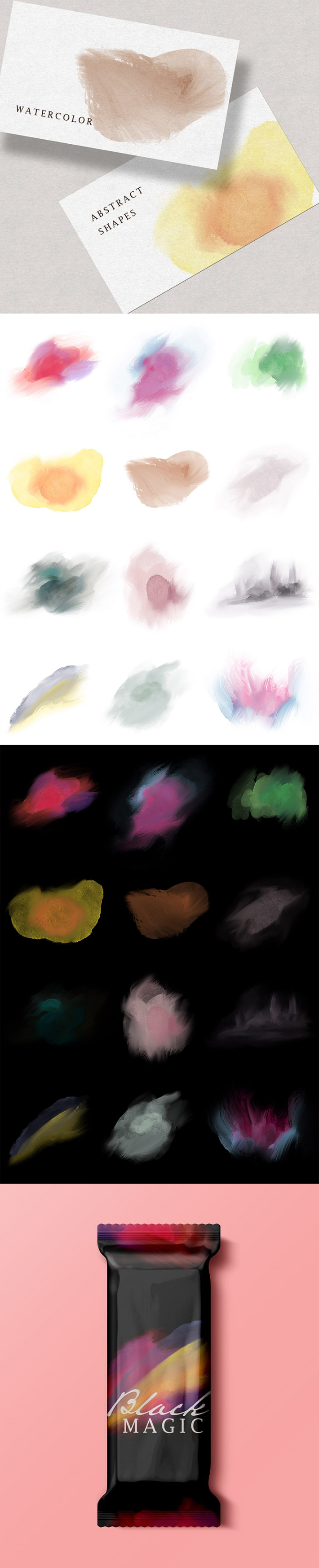 Free Awesome Unique Watercolor Shapes
