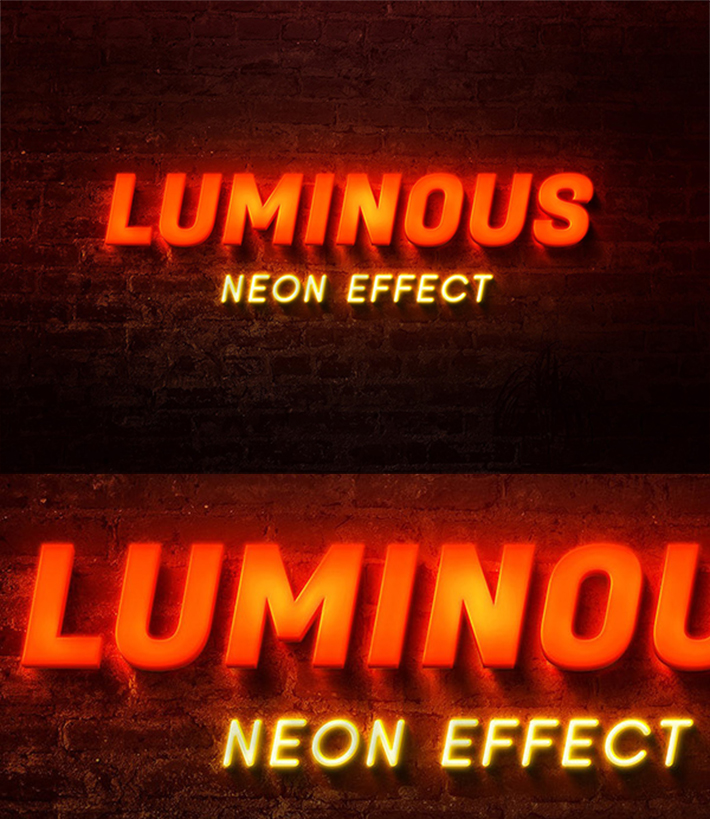 Attractive Glowing Neon Text Effect